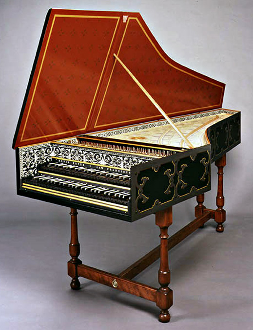 ... —Gallery—Harpsichords—Colmar Ruckers Harpsichord with Strapwork