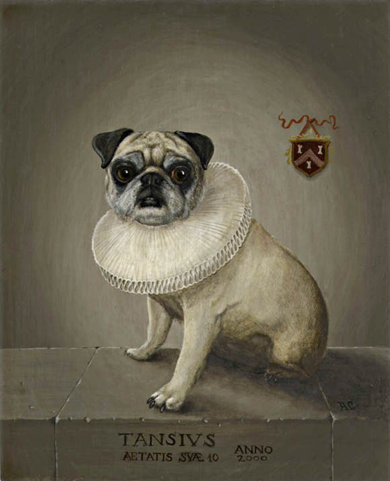 Adrian Card Decorative Painting Gallery Miscellany Pug Portrait